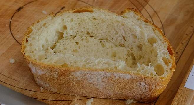 "A ""brick bowl"" is really a hunk of sourdough with a lot of the soft middle carved out."