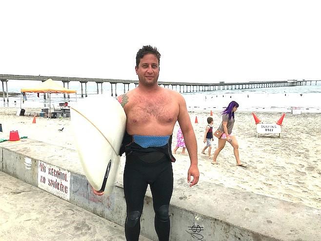 """Sam: """"If I don't surf for a few days, I'm cranky and irritable."""""""