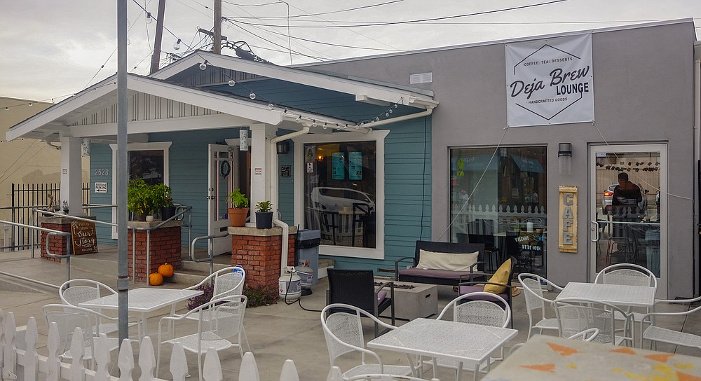 Formerly a salon, Deja Brew Lounge sits within a converted bungalow.