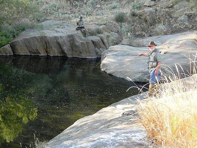 """""""Rainbow trout were planted in Boulder Creek, near the Mine Pool."""""""
