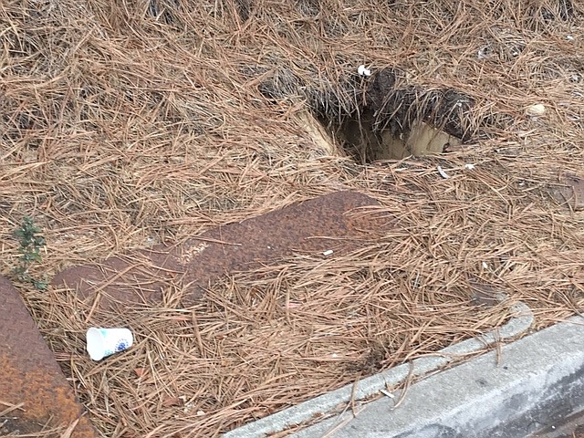 Manhole without cover