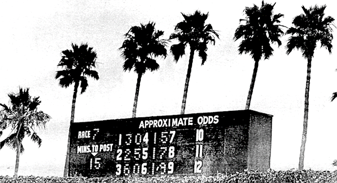 Unlike the Double, the EXACTA is expensive, and though the winnings may be high, the likelihood of winning is correspondingly low. - Image by Cecil Caulfield