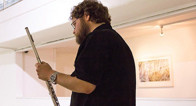 """UCSD's Wilfrido Terrazas no longer rebels against his instrument. """"The flute is what it is, and I'm not going trying change it."""""""