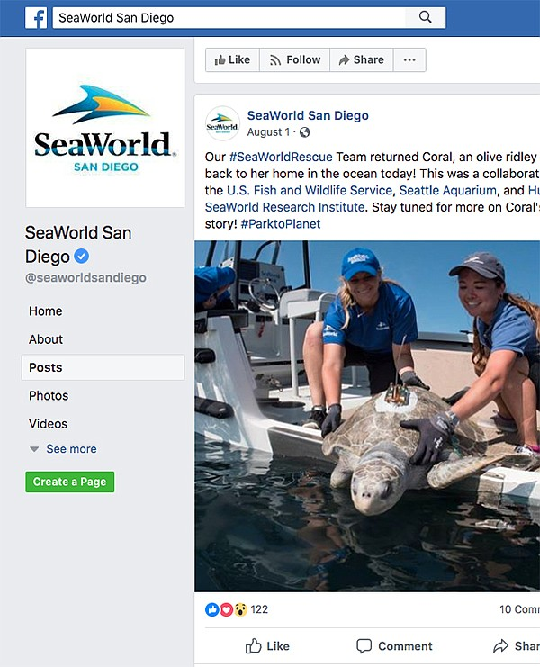 SeaWorld's use of Facebook corresponds with a bump in attendance at its amusement park.