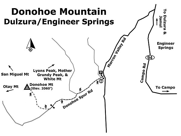 Donohoe Mountain Trail map