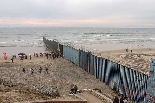A few caravaners tried to swim around the border fence, with the usual result of being caught.