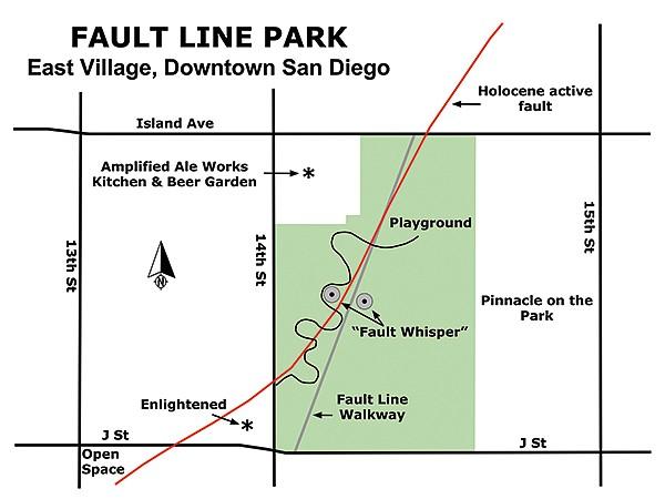 Fault Line Park map