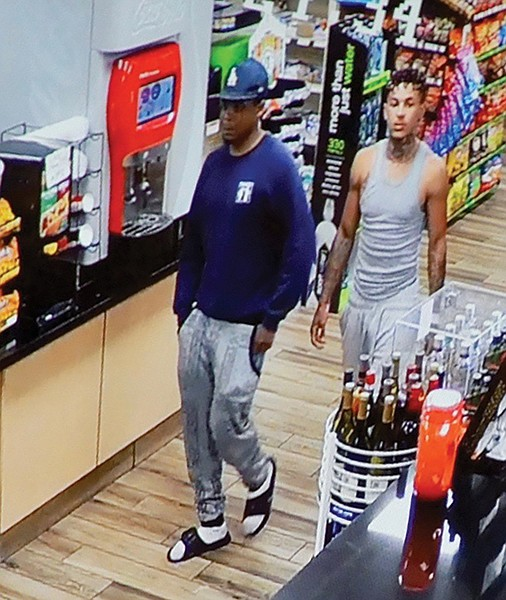 Surveillance video of D'Angelo and Wesley coming into liquor store.