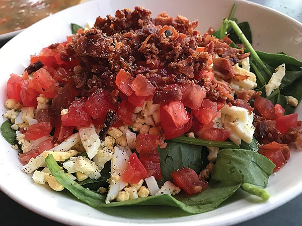 Kevin's spinach salad: deal!