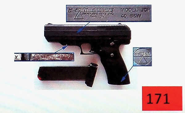 The murder weapon had the serial numbers filed off.