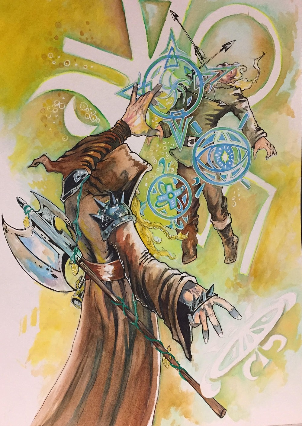 Can artwork for Divine Light, by frequent BattleMage artist, David Miller