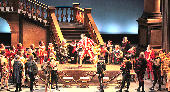 Rigoletto at San Diego Opera in 2009. Yours truly is the first courtier on the left.