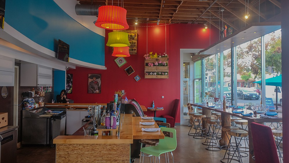 A bright fast casual dining room for quality Mexican dishes