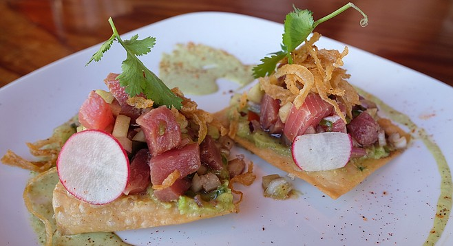 Tuna tostadas at the former site of Tostadas North Park