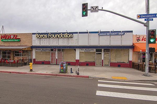 Empty storefronts on University Avenue