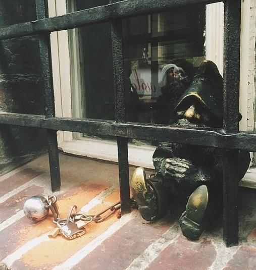 Wroclaw dwarf in jail
