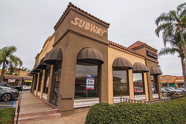 Old Subway location for lease on University Avenue