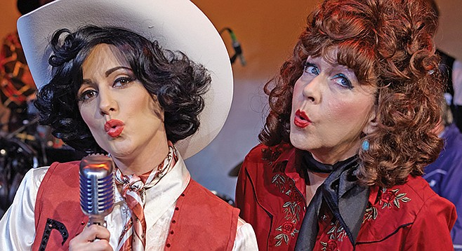 Katie Karel and Cathy Barnett perform in the North Coast Rep production of Always... Patsy Cline.