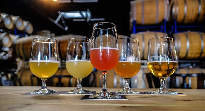 Beers served at Toolbox Brewing Company, two days before the business abruptly announced its closure.