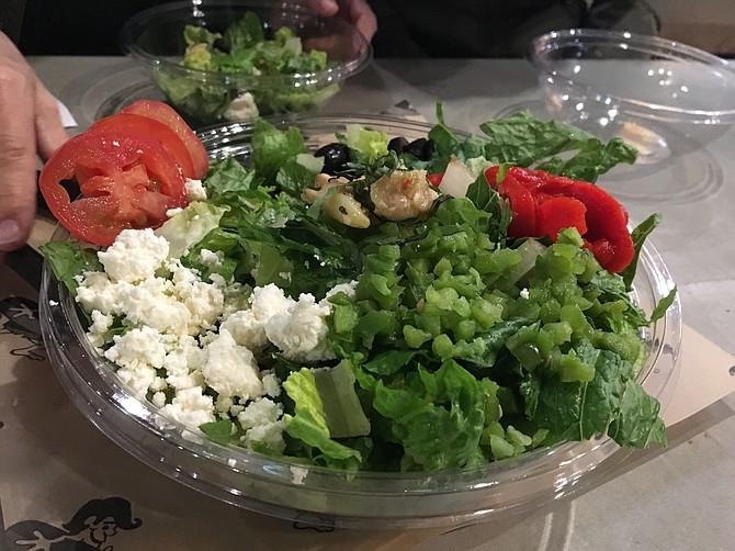 The Surf Rider side salad