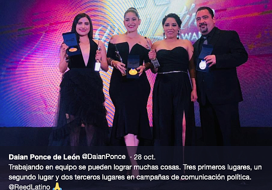 Daian at Reed Latino awards ceremony