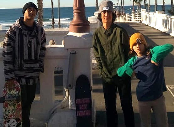 """Zion, Holden, Bash starting in Oceanside. """"I fell in love with the boys and their mom, formally adopted the boys and we had our daughter together."""""""