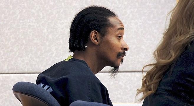 Daryl Vaughn in court