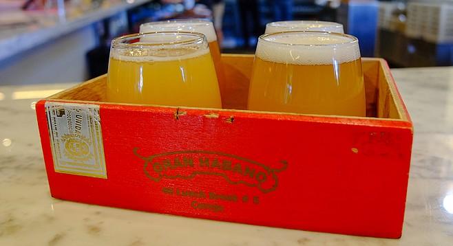 A flight of mostly Los Angeles-brewed beers