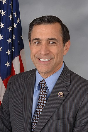 "Darrell Issa is smiling because ""I blew off three votes"" in Congress."