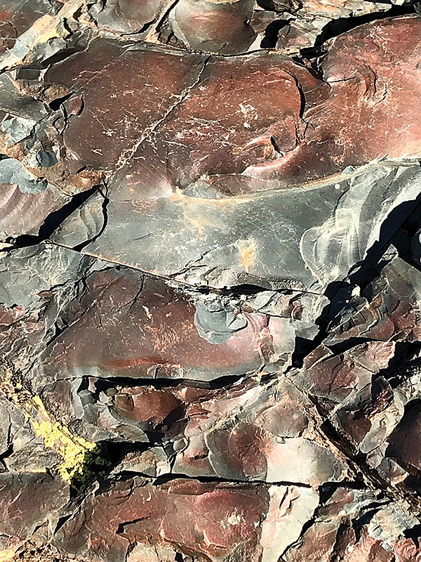 Volcanic breccia from a debris flow