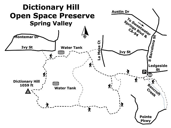 Dictionary Hill map