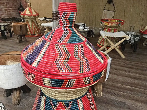 Made in Ethiopia: whicker tables for traditional gatherings
