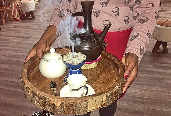 Music with frankincense, myrrh, coffee