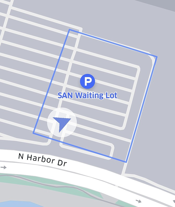 Uber Staging Lot to service San Diego Airport.