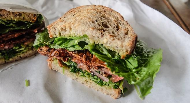A healthy letdown of a sandwich