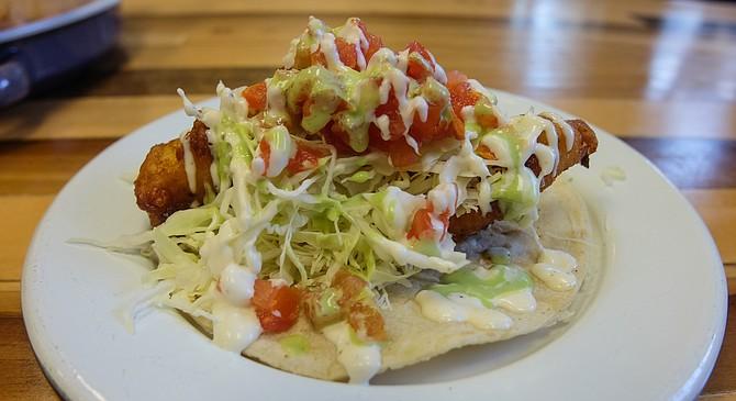 A pretty tasty fish taco