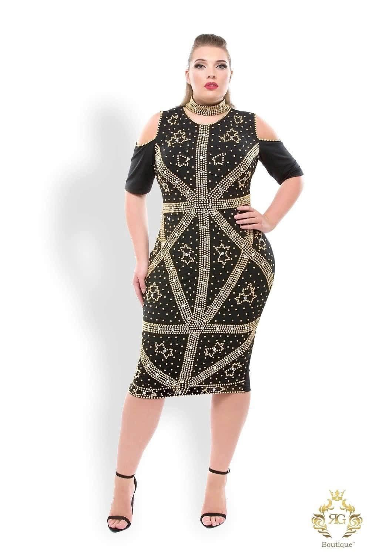 Get designer heavily hand embellished plus size Formal Party ...