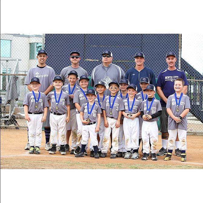 North City Youth Baseball 8U Team at the Turkey Tournament on November 25, 2018