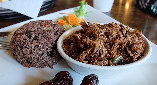 Congri on the side of ropa vieja