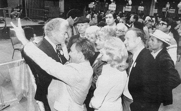 Mitchell's happy fatigue was shared by the twenty or so early arrivals to his election night victory party.