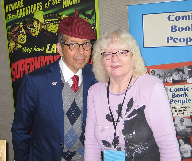 Batton Lash and Jackie Estrada at San Diego Comic Fest 2017 - Image by Jamie Ralph Gardner