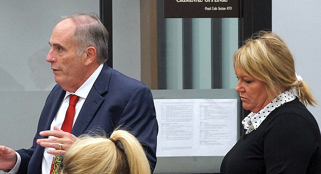 Attorney Herb Weston explained to the court that Christena Potter is a responsible person, except when drinking.