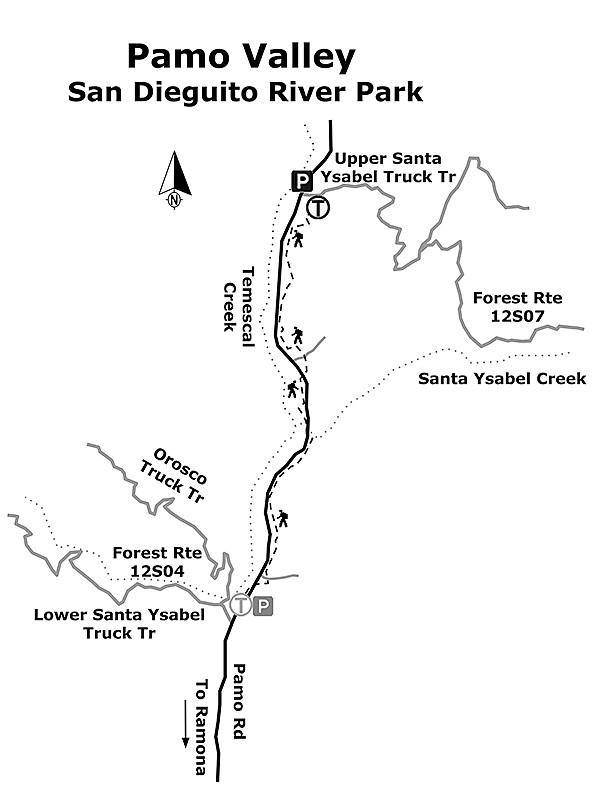Pamo Valley map