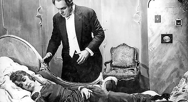 Fritz Lang's 1922 German classic silent film, Dr. Mabuse: Der Spieler (Dr. Mabuse: The Gambler) at Oceanside Library