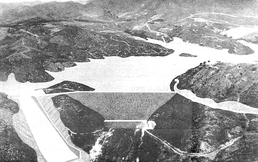 Fallbrook dam (artist's conception)