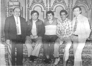 Halit Aydin (far left),  Yalcin Kocak (second from right), Hussein Erim (far right)
