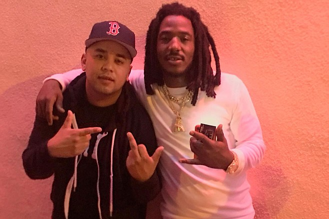 Primee (left) with hip hop artist Mozzy