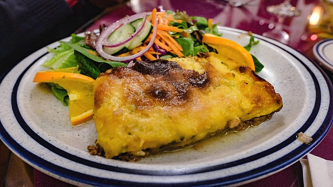 Pastel de choclo: a baked egg, beef, and chicken dish popular in Chile