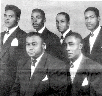 Spiritual Kings, 1949: Edward Graves, Willie Ross, Exton Hullaby (top row), Marvin C. Hine, Willie Pitts (bottom)