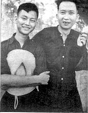 Dinh Thach Bich (left) 1953